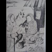 the_Ritual_72_x_52cm_pencil_on_canvas_2009.jpg